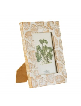 Monstera fotokader hout wit - Sass & Belle