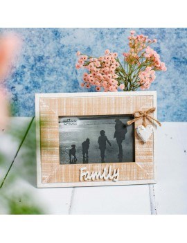 Family fotokader hout wit - Sass & Belle