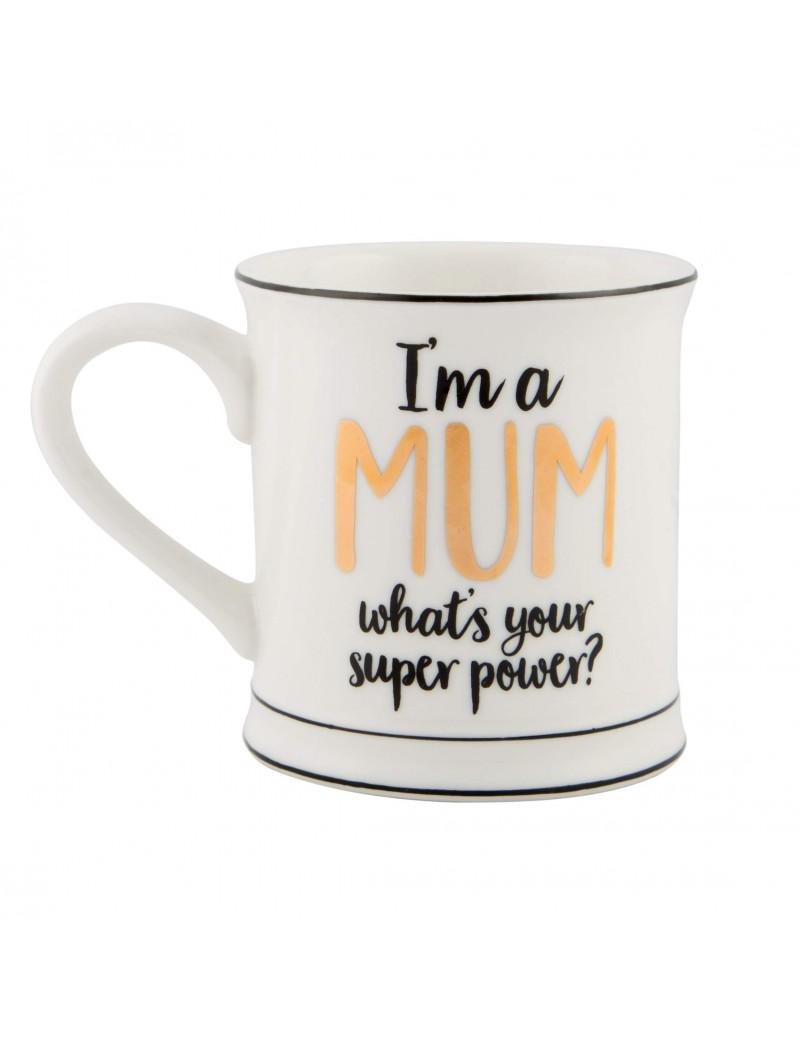 Mom superpower tas beker - Sass & Belle