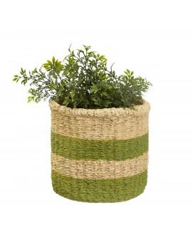 Groene bloempot cement - Sass & Belle