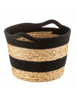 Opbergmand touw zwart - Sass & Belle