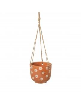 Hangende bloempot madelief terracotta - Sass & Belle
