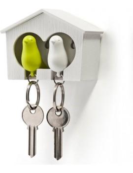 Sleutelhanger vogelhuisje duo groen - Qualy