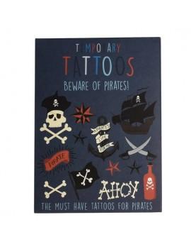 Tijdelijke tattoos piraten