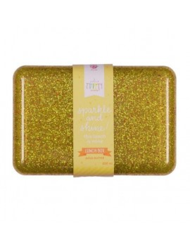 Glitter brooddoos goud - A Little Lovely Company