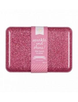 Glitter brooddoos roze - A Little Lovely Company