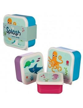 Zeedieren snackdoosjes set van 3 - Puckator