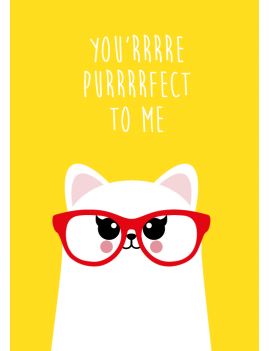 kaart 'You'rrre purrrrfect to me'