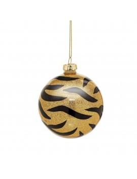 Tijger kerstbal glitter - Sass & Belle