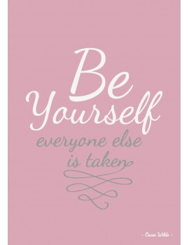 kaart 'Be yourself, everyone else is taken'