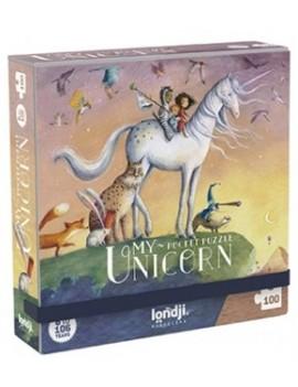 Pocket puzzel eenhoorn unicorn 6+ jaar - Londji