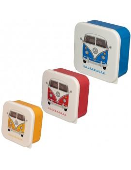 Brooddoos volkswagen blauw set van 3 - Puckator