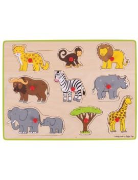 Houten puzzel safari 3D - BigJigs