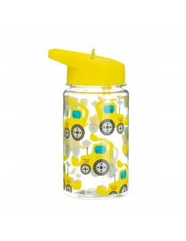 Waterfles met rietje graafmachine - Sass & Belle