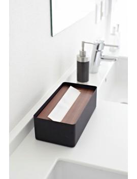 Tissue box zakdoekendoos zwart - Yamazaki