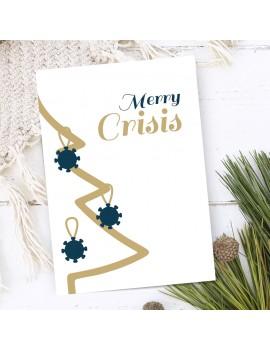 Merry Crisis corona kerstkaart set van 10 - Lacarta