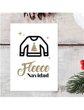 Kerstkaart Fleece Navidad set van 10 - Lacarta