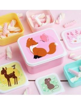Forest snackdoosjes set van 4 - A Little Lovely Company