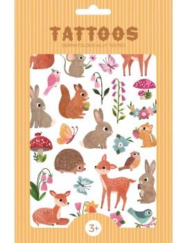 Tijdelijke tattoos woodland friends - Petit Monkey