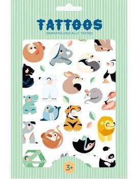 Tijdelijke tattoos wilde dieren - Petit Monkey