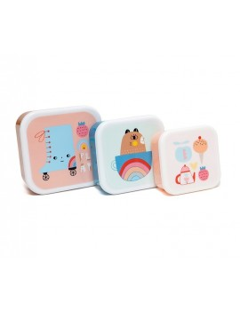 Snackdoosjes play time set van 3 - Petit Monkey