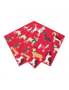 Kerstservetten met honden - Talking Tables