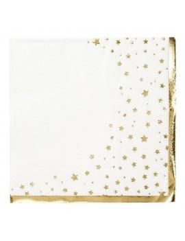 Kerstservetten met gouden sterren - Talking Tables