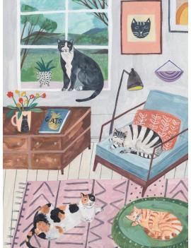 Katten puzzel 500 stukken - Talking Tables