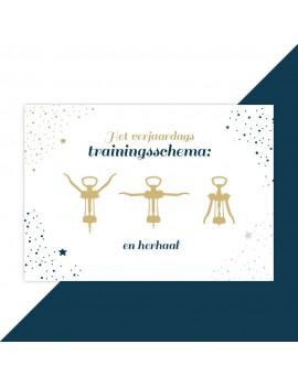 Verjaardagskaart trainingsschema