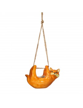 Hangende bloempot vos oranje - Sass & Belle