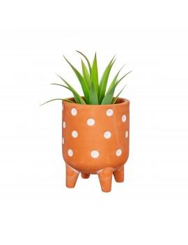 Terracotta bloempotje polka dot - Sass & Belle