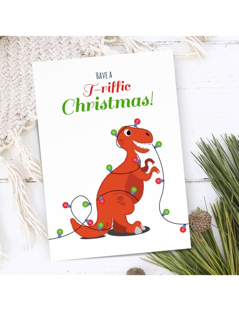 Dino kerstkaart - Lacarta