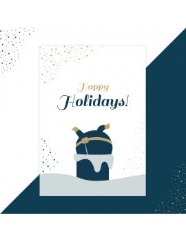 Kerstkaart happy holidays - Lacarta