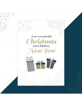 Kerstkaart fabulous new year set van 10 - Lacarta
