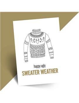 Grappige kerstkaart sweater set van 10 - Lacarta