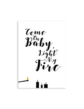Kerstkaart Light My Fire set van 10 - Lacarta