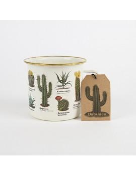 Emaille tas met cactussen