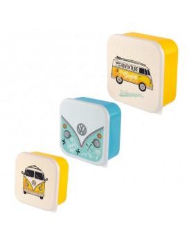 Brooddoos volkswagen geel set van 3 - Puckator