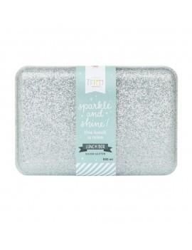 Glitter brooddoos zilver - A Little Lovely Company