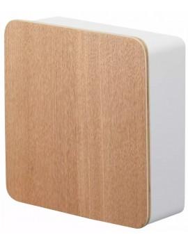 Wit sleutelkastje magnetisch uit hout - Yamazaki