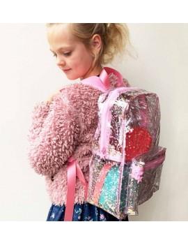 Glitter kleuter rugzak roze - A Little Lovely Company