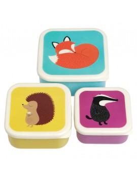 Snackdoosjes dieren set van 3 - Rex London