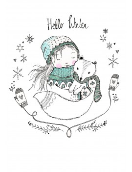 kaart 'Hello Winter'