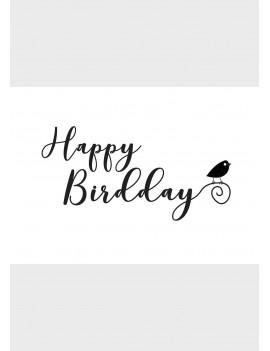 """Pakket van 10: Verjaardagskaart """"Happy Birdday"""""""