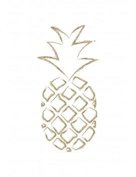 """Pakket van 10: Wenskaart """"Pineapple"""""""
