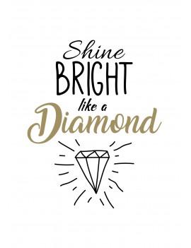 """Pakket van 8: Wenskaart """"Shine Bright"""""""