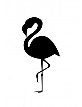 """Pakket van 10: Wenskaart """"Flamingo Black"""""""