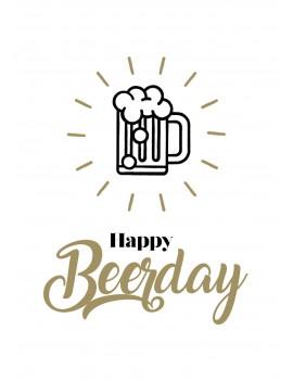 """Pakket van 8: Verjaardagskaart """"Happy Beerday"""""""