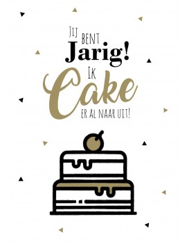 Pakket van 8: Verjaardagskaart Ik cake er al naar uit