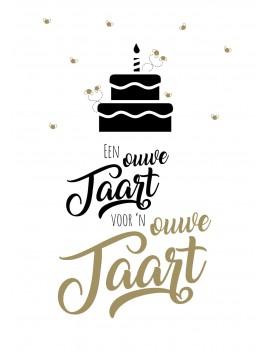 Pakket van 8: Grappige verjaardagskaart ouwe taart